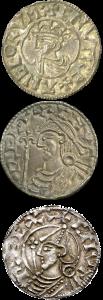 3 Cnut coins