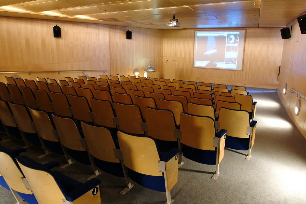 The Sunley Lecture Theatre at The National Maritime Museum Cornwall. Photo by Bob Berry