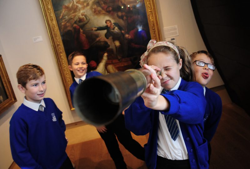 Award winning school workshops at The National Maritime Museum Cornwall photo by Toby Weller