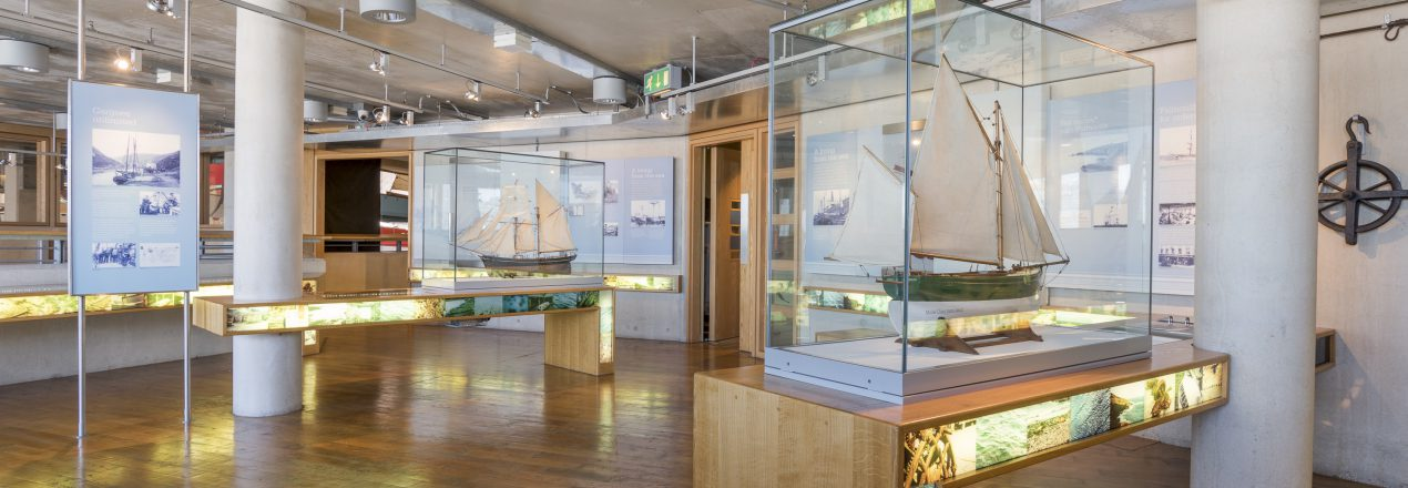Model boats at The National Maritime Museum Cornwall in Falmouth by Paul Abbitt