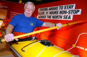 10th February 2006 NMMC Falmouth Endurance and Survival new exhibition . Pictured Derek Hutchinson paddled non stop across the North Sea. Pic. Colin Ross