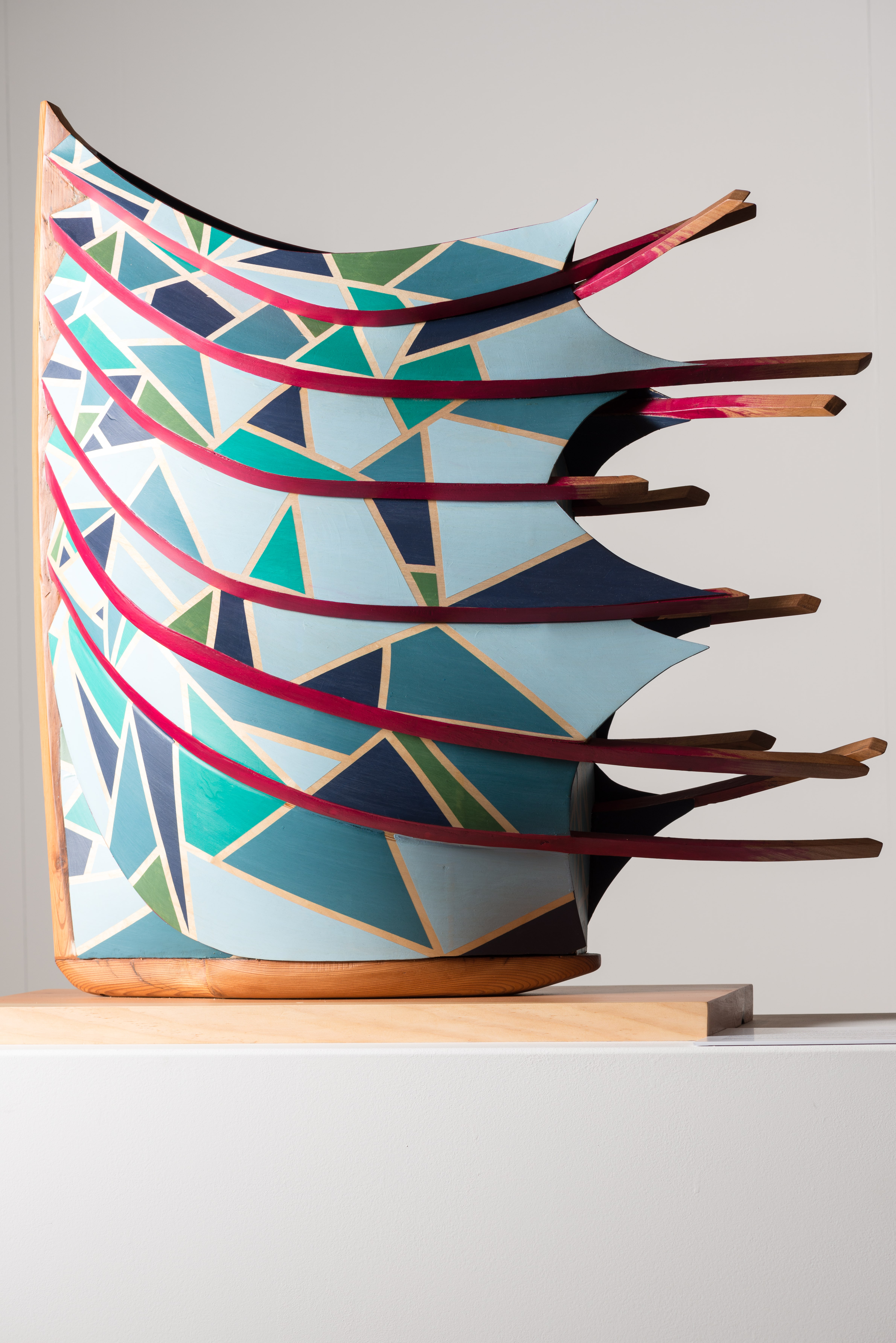 Skeleton: Sculpture inspired by boats