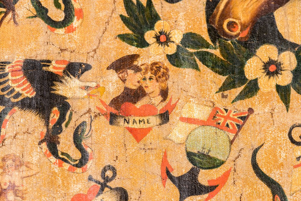Image: Detail from rare Sailor Knight flash banner courtesy of Neil Hopkin-Thomas. Photo Paul Abbitt