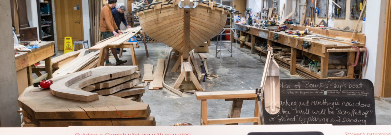 Boat building workshop