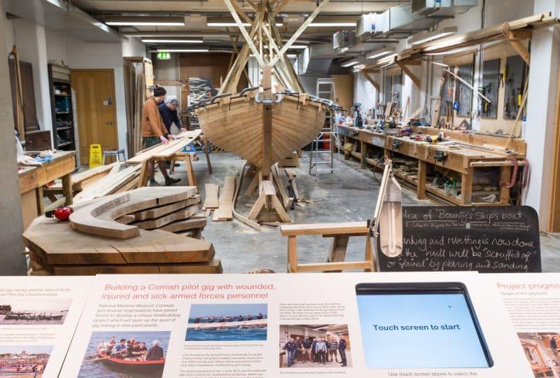 Boat building workshop