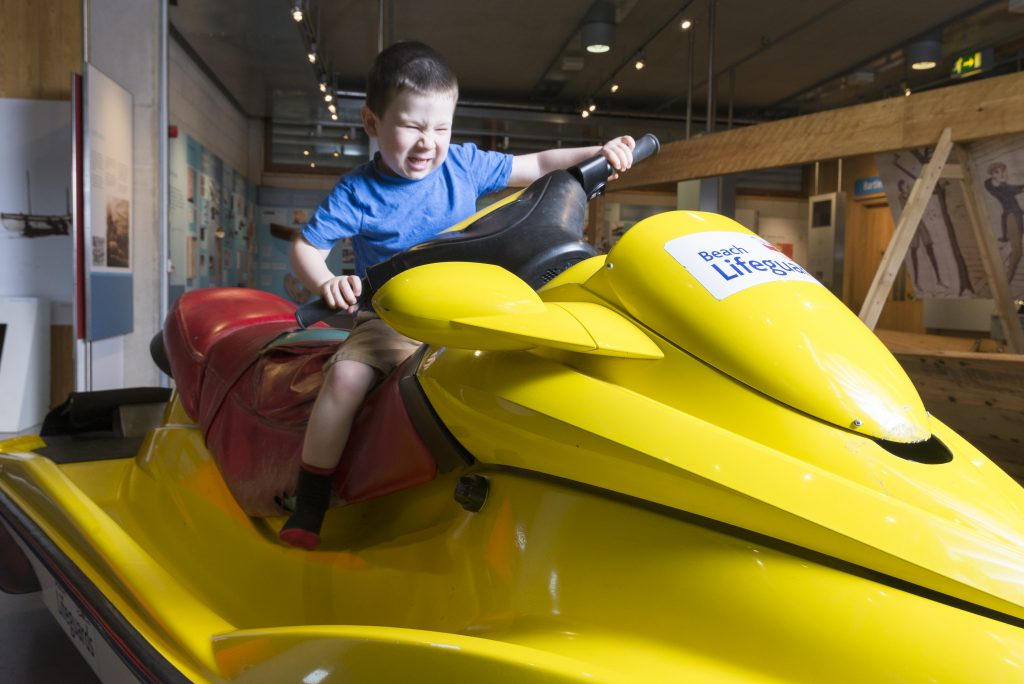 James on The Jetski in the Survival Zone at The National Maritime Museum Cornwall