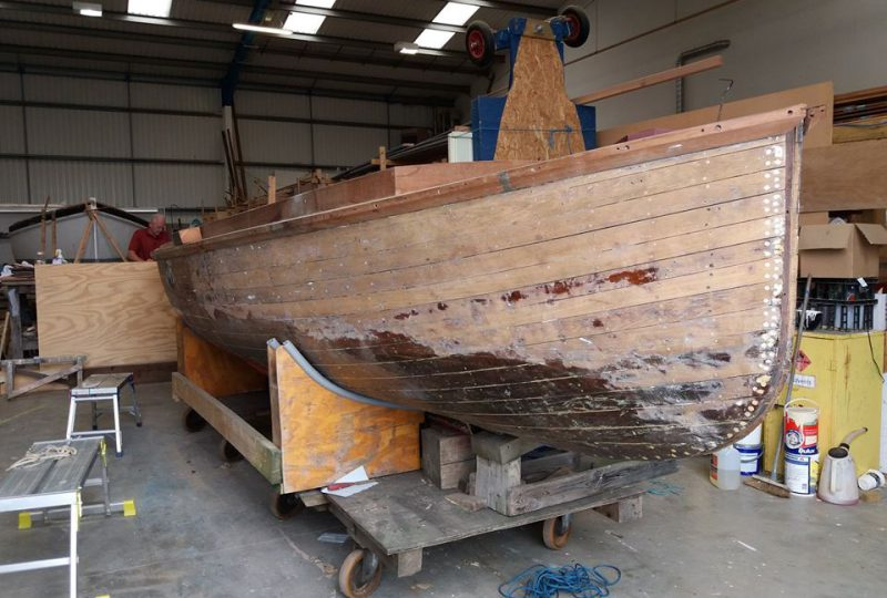 Steam launch Emma, a new project for the National Maritime Museum Cornwall boat building team in Falmouth