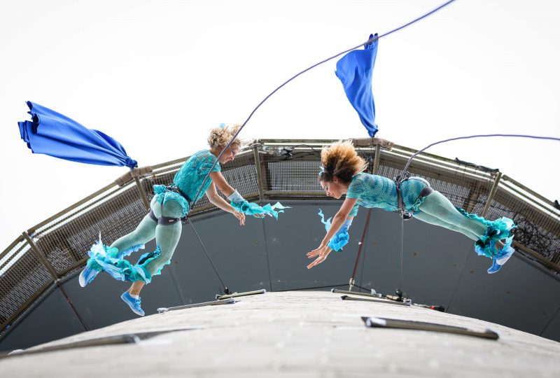 Bligh Spirit A vertical dance spectacle at The National Maritime Museum Cornwall in Falmouth photo by Steve Tanner
