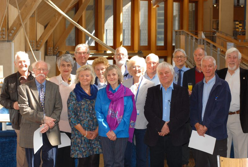 Volunteers at The National Maritime Museum Cornwall celebrate their 5 + 10 years service at The National Maritime Museum Cornwall in Falmouth in 2017