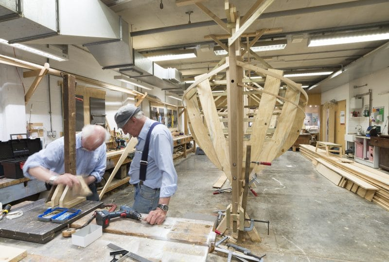 The Titanic's Lifeboat 13 - a reproduction is is being built in house at The National Maritime Museum in Falmouth