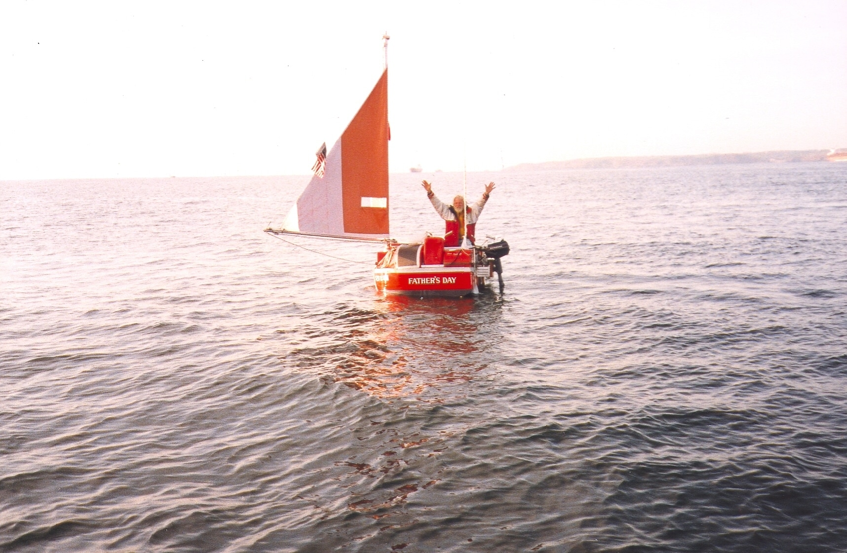 Father's Day smallest boat to cross the Atlantic