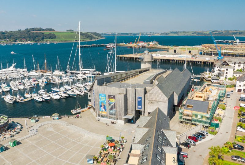 National Maritime Museum Cornwall aerial shot