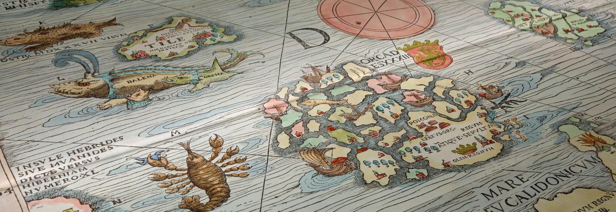 Monsters of the Deep Carta Marina Map